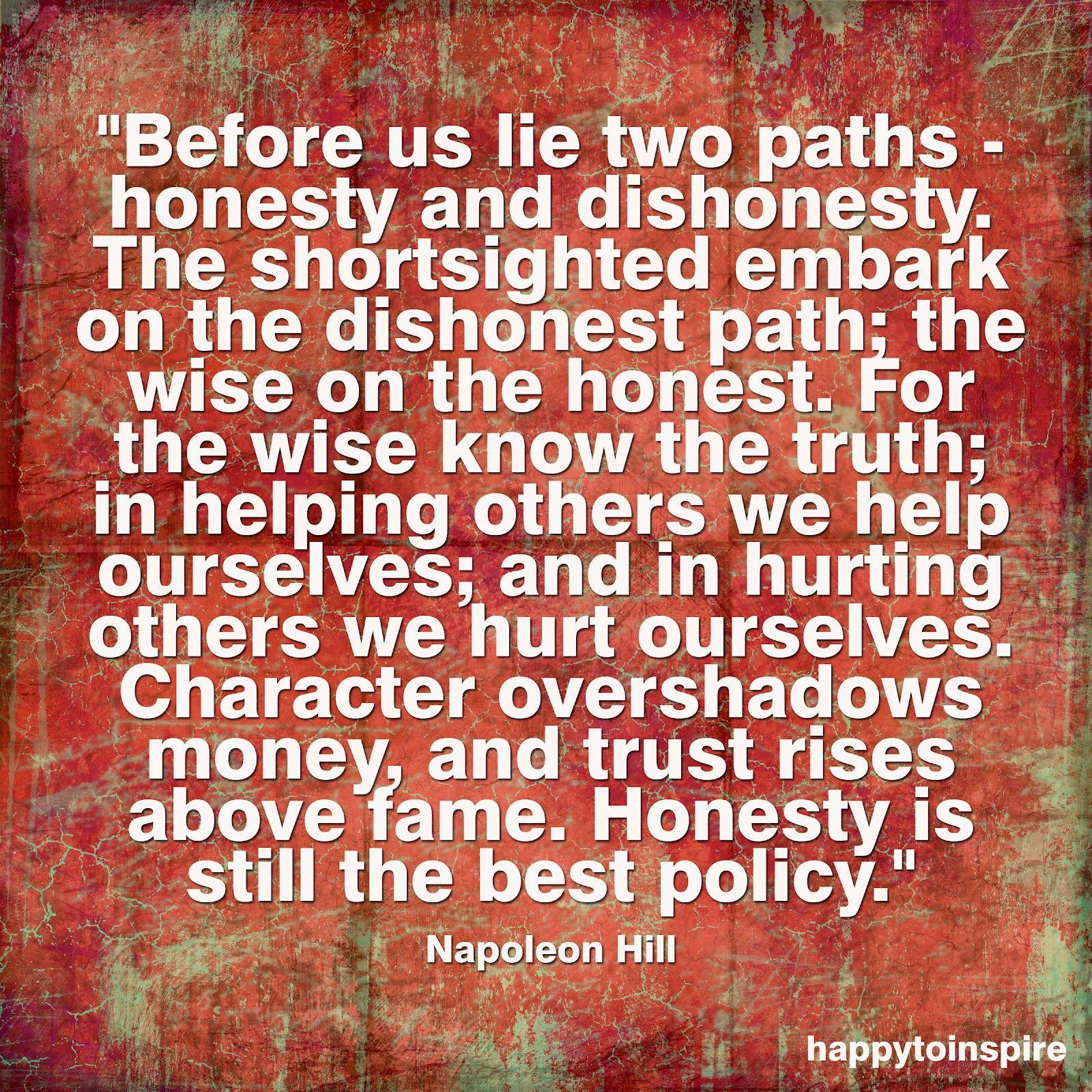 Honesty / Before Us Lie Two Paths.