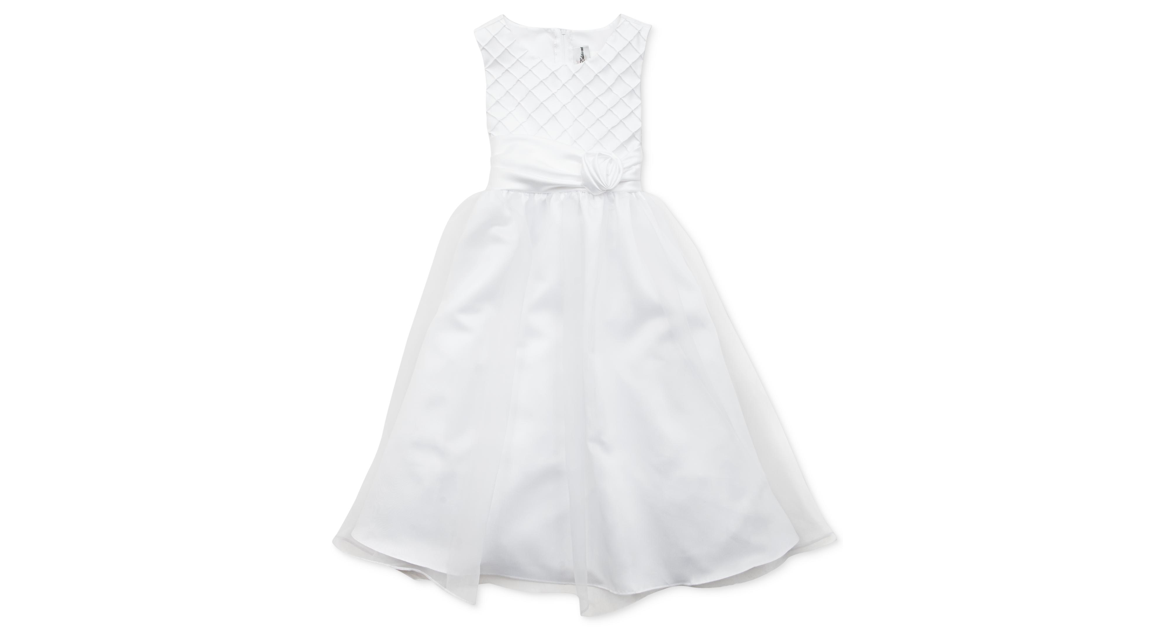 Rare editions girls dress girls communion lattice ballerina dress