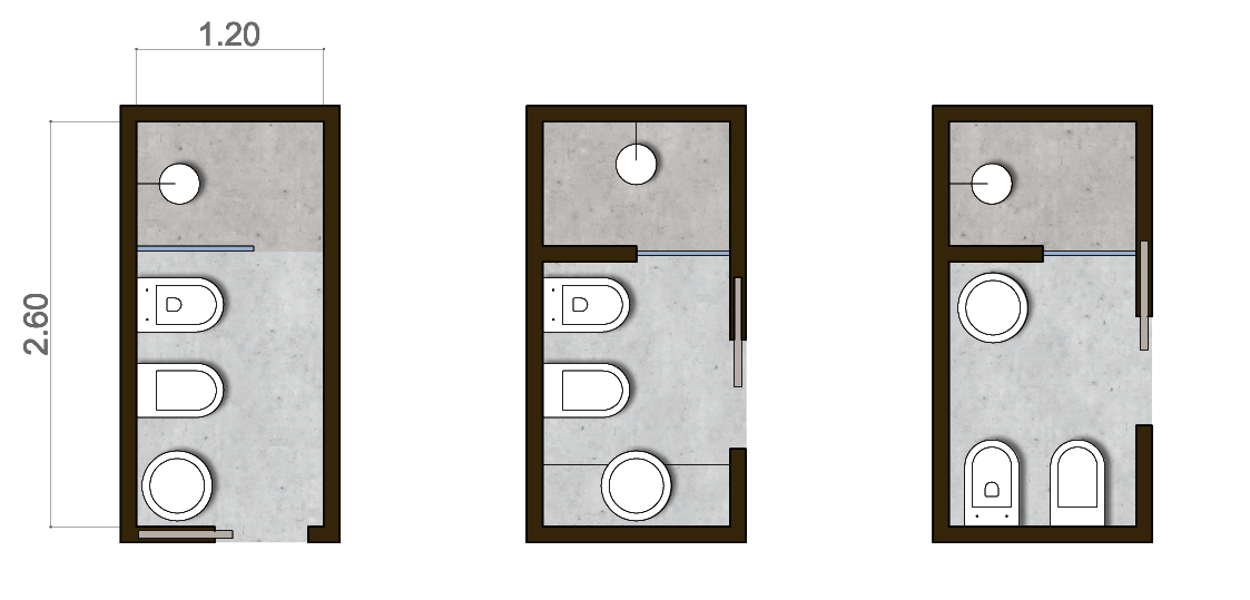 un bagno stretto e lungo  Casa  Pinterest  Small bathroom and Small bathroom floor plans