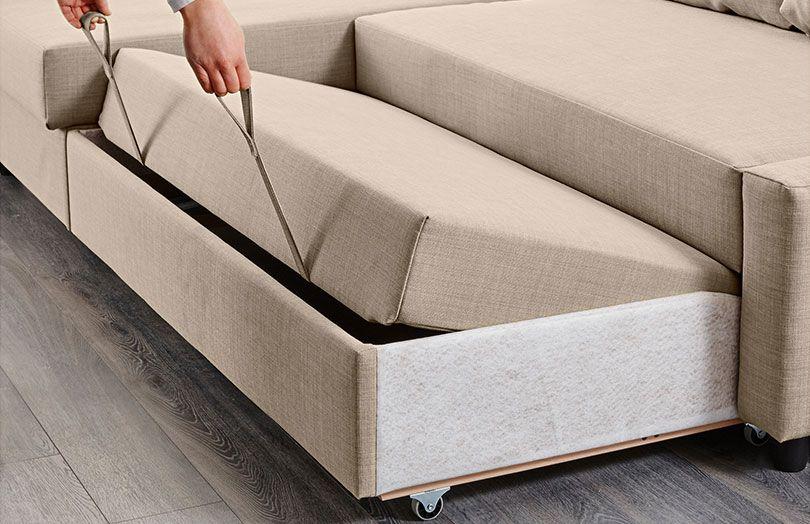 Systeme D Ouverture Du Canape Friheten Convertible D Angle Canape Lit Angle Meubles De Chambre A Coucher Lit Ikea