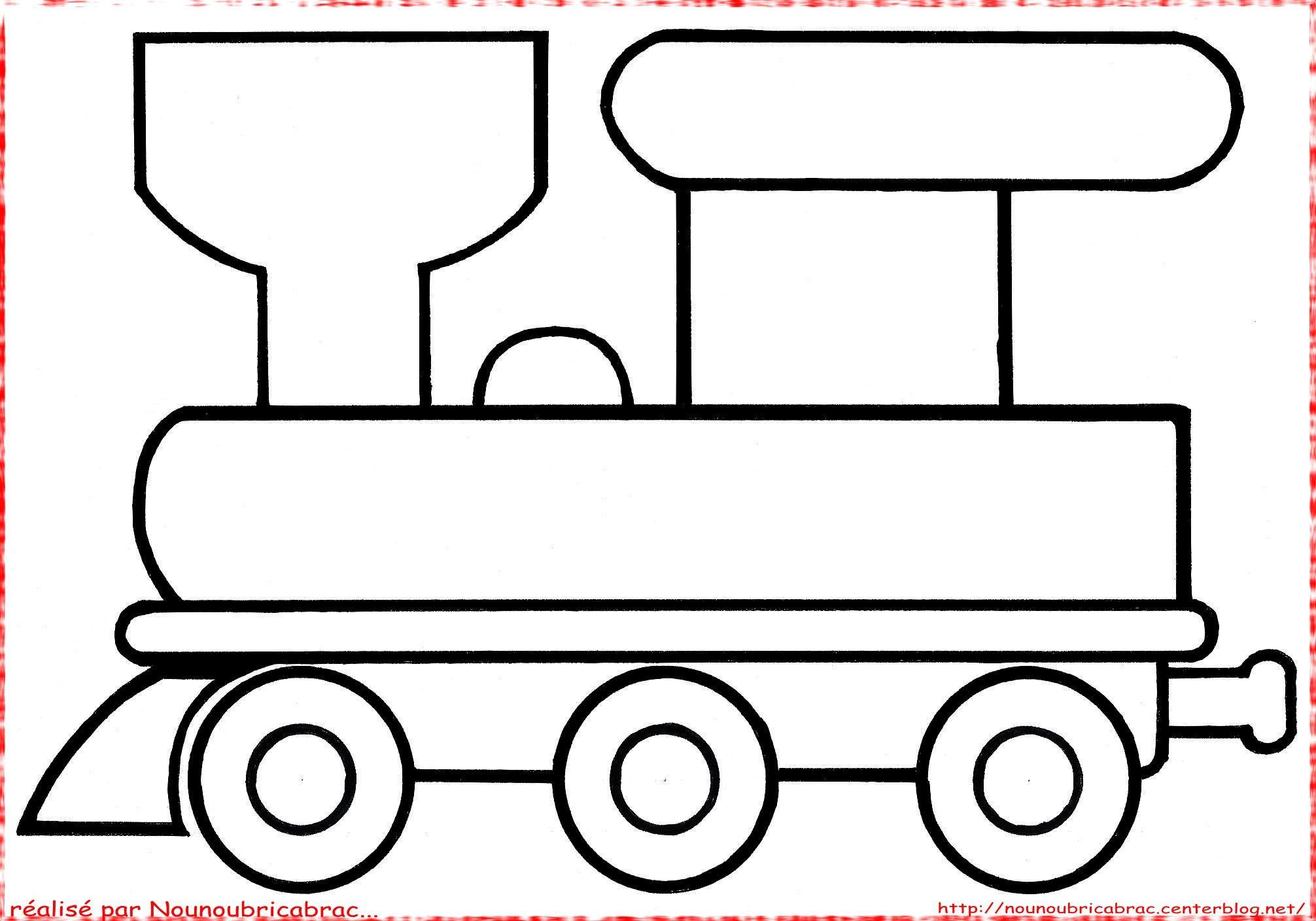 Coloriage Wagon à colorier - Dessin à imprimer | Dessins | Pinterest