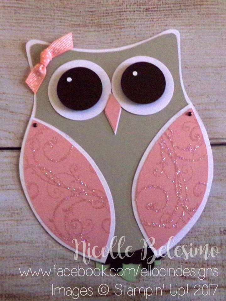 Custom Owl Birthday Invitations Made With Stampin Up Products Based On A Design By Tina Milas Nicollebelesimostampinup