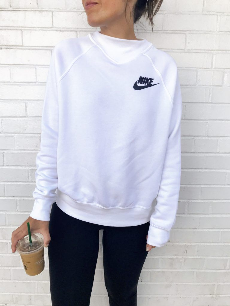 90's Trends are Back | White nike sweatshirt, Athleisure