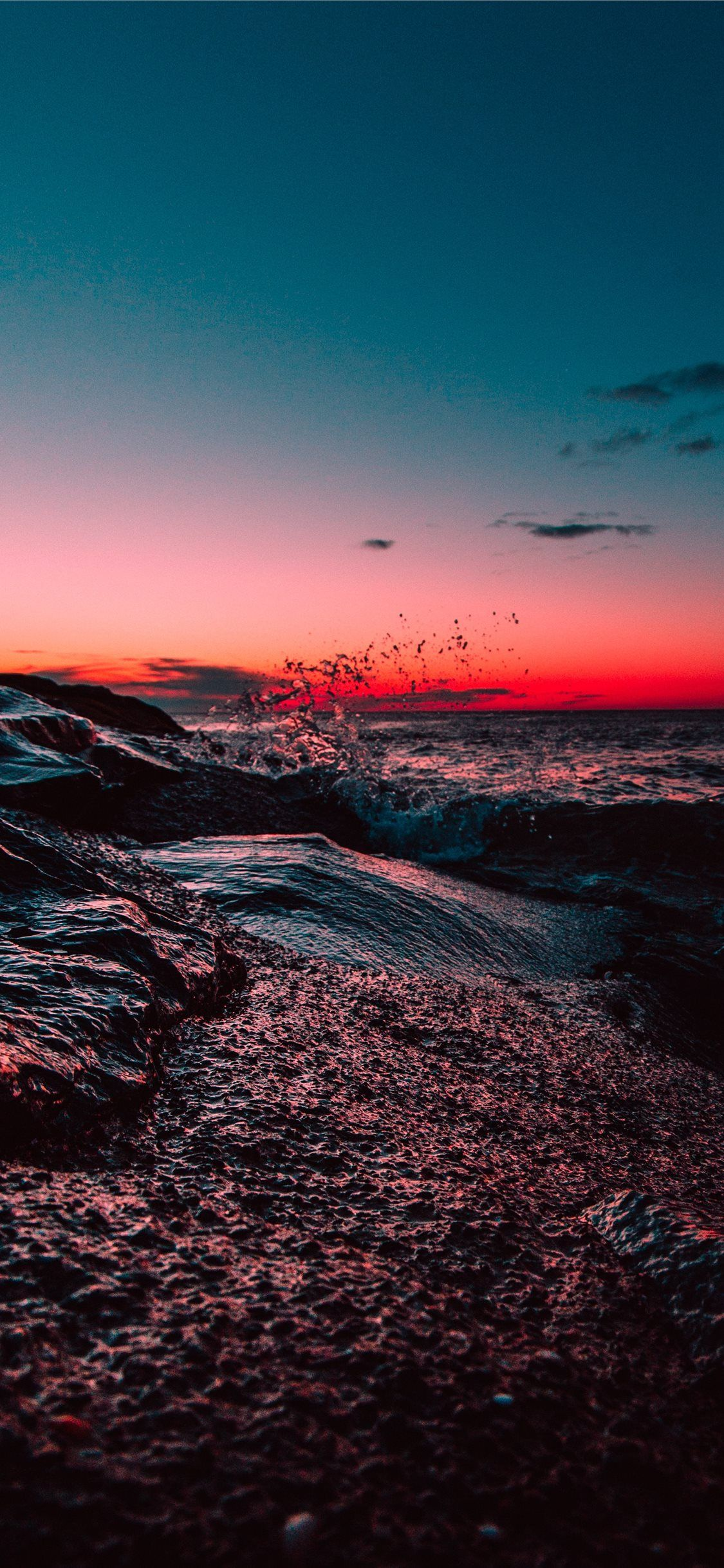 Body Of Water During Sunset Sunset Sky Landscape Beach Wave United States Nature Wallpaper Sunset Wallpaper Background Images Nature