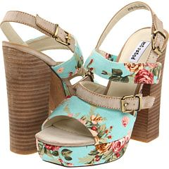 I sincerely doubt my ability to walk in these, but they're so pretty, I'd be willing to try.