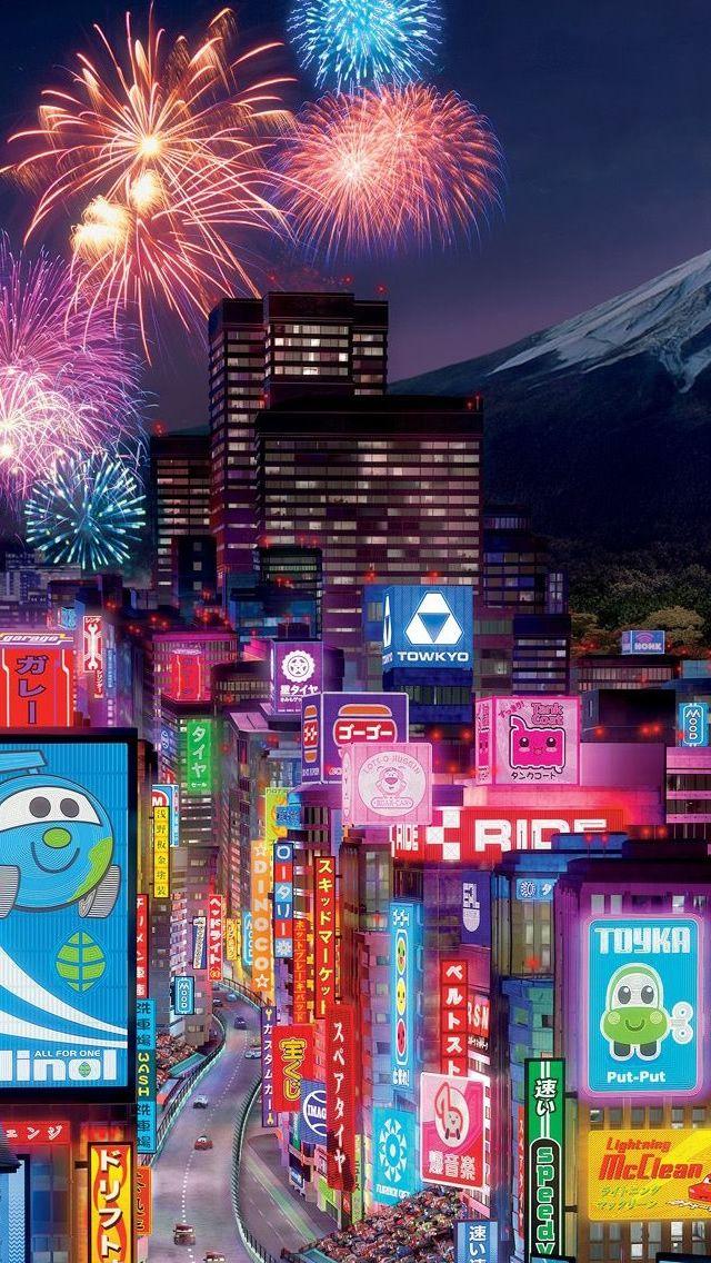 Tokyo City In Cars 2 Iphone 5s Wallpaper Download Iphone Wallpapers Ipad Wallpapers One Stop Download Tokyo City City Wallpaper Travel Wallpaper Wallpaper iphone aesthetic tokyo