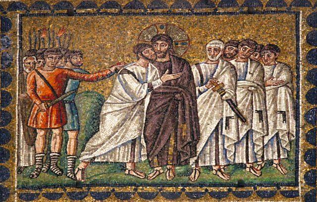 Sant'Apollinare Nuovo, Ravenna: The Kiss of Judas | Arte bizantino, Arte,  Museos