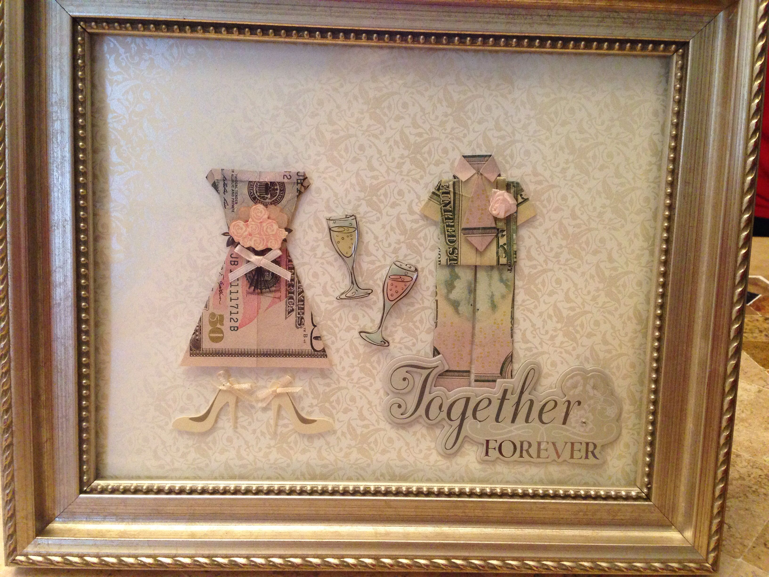 Creative Way To Give Money As A Wedding Gift Made Out Of 3 50 Dollar