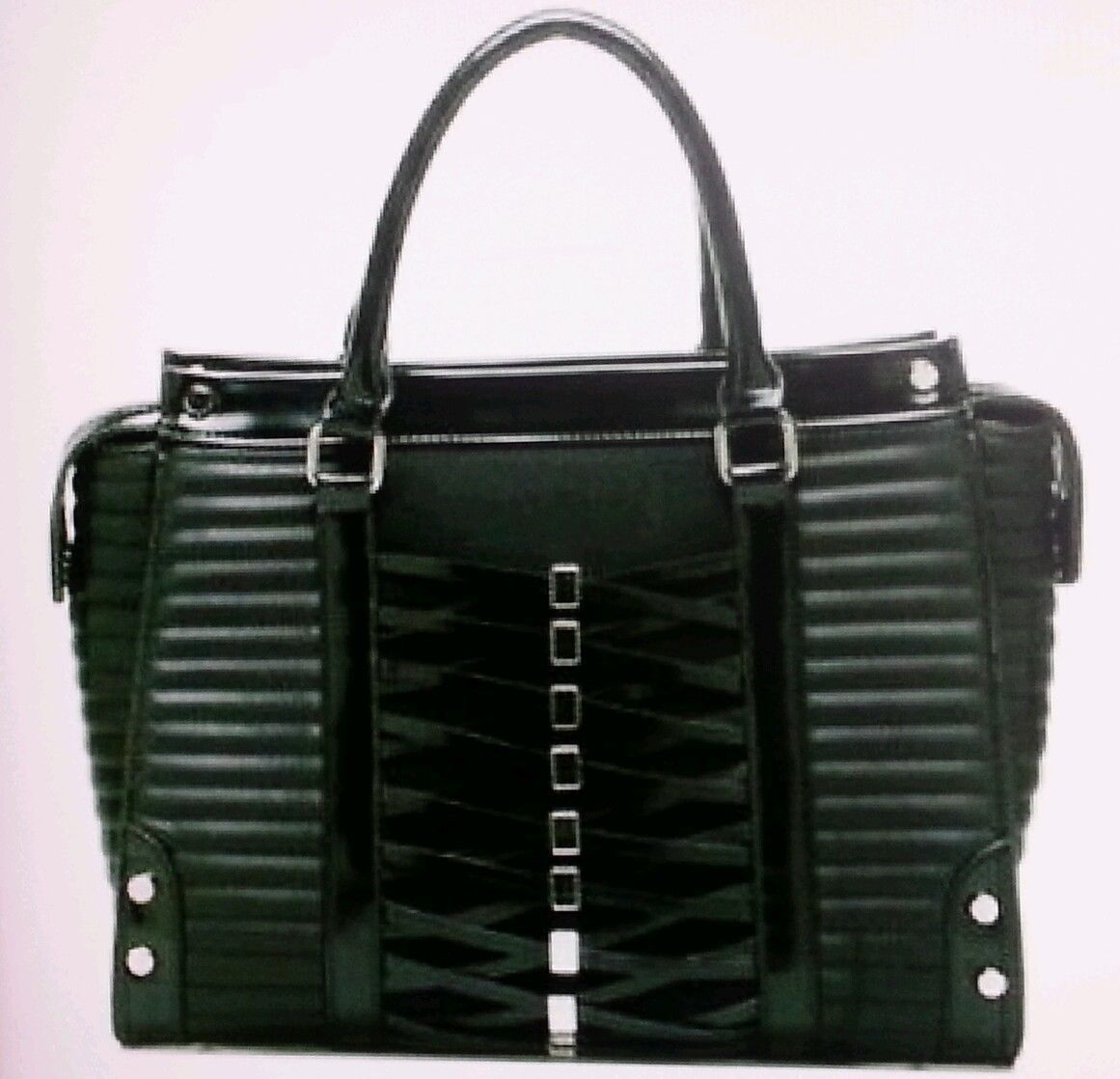 Furano Satchel Purse Gx By Gwen Stefani Black Corset Faux Bag Hot Y Ebay
