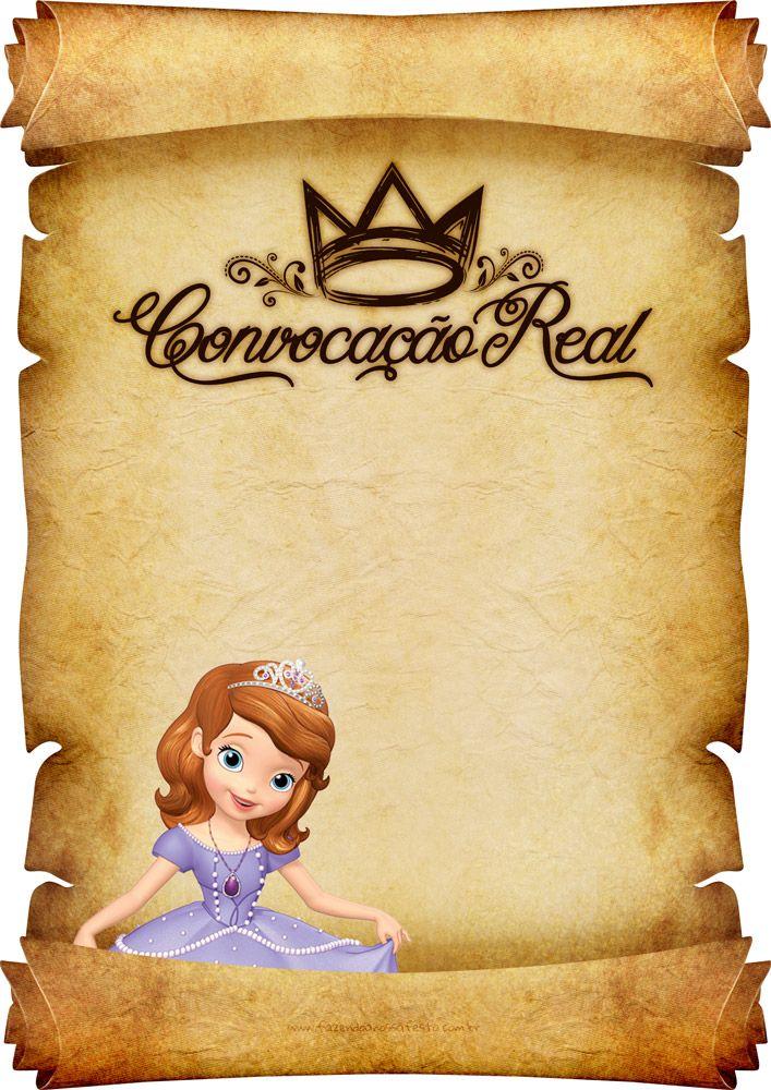 Convite Pergaminho Princesa Sofia 4                                                                                                                                                      Mais