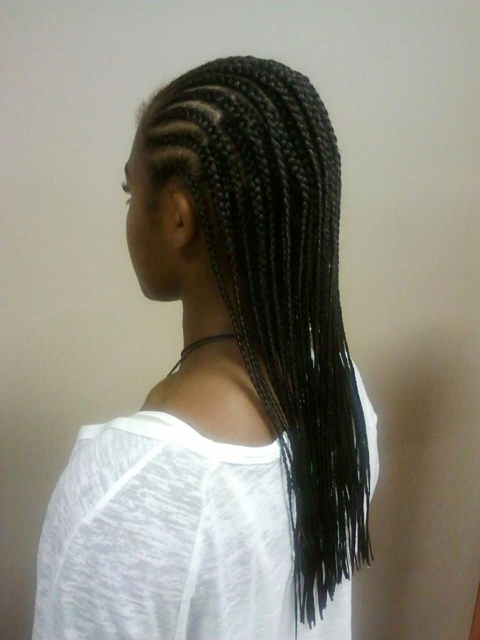 Layered Cornrow Extensions Extensions Natural Hair