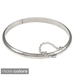 Shop for Sterling Essentials Silver 7-inch Hand-engraved Bangle Bracelet (5mm). Free Shipping on orders over $45 at Overstock.com - Your Online Jewelry Destination! Get 5% in rewards with Club O!
