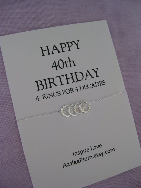40th Birthday Gift Sisters Jewelry For Mom Four 4