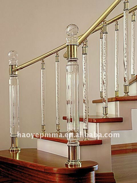 Best Indoor Led Light Acrylic Stairs Baluster Steel Railing 400 x 300