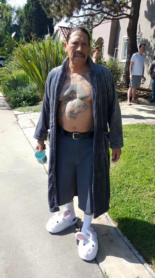 Danny Trejo S Bunny Slippers Awkward Pictures Funny Pictures