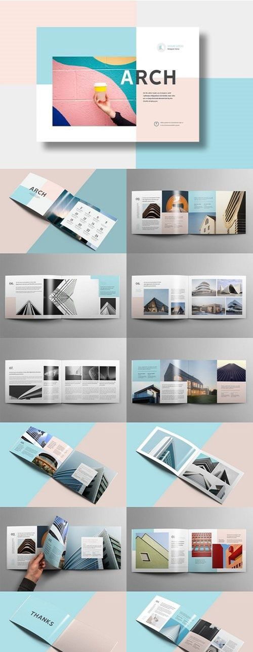 modern architecture brochure 24 pages a4 a5 modern architecture