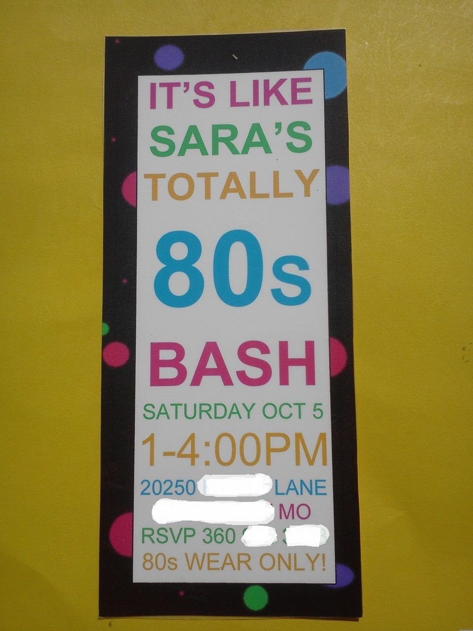 Awesome printable 80\'s invitation! Great for a birthday or 80\'s ...