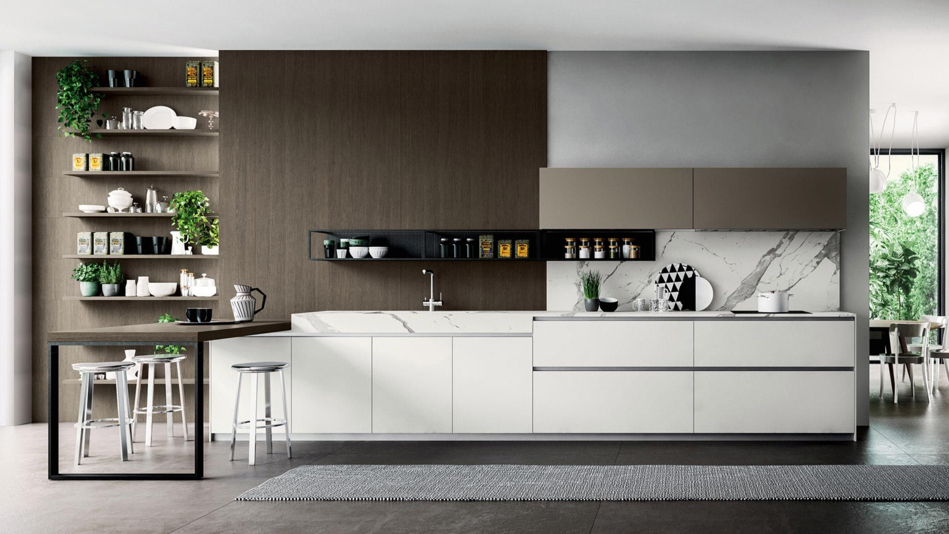 The Cabinet Door Of The T16 Kitchen Is One Of A Kind Combining Different Materials Within A Single Element And Offering A Choice Of Styl Cuisine Design Kitchen Design Cabinet Doors