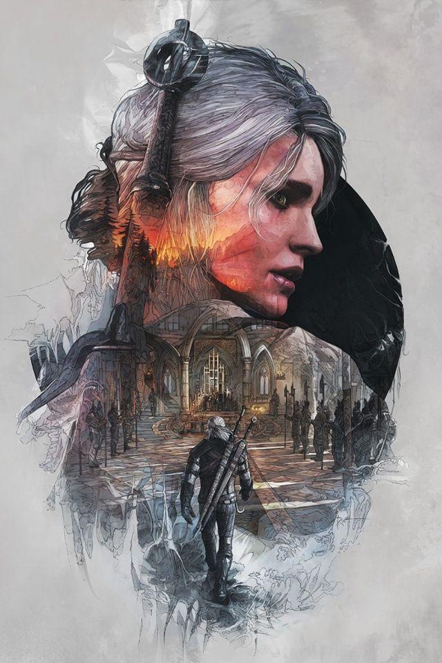 The Witcher 3 Wild Hunt Mobile Wallpaper Ciri & Geralt