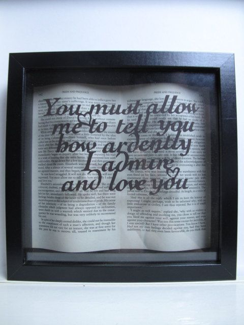 Framed book art by PaversPaper on Etsy • So Super Awesome is also on Facebook, Twitter and Pinterest •