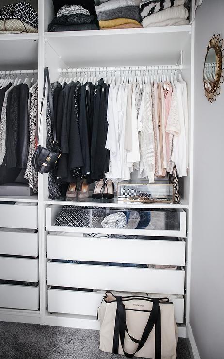 Fantastic Walk In Closet Features An Ikea Pax Closet System