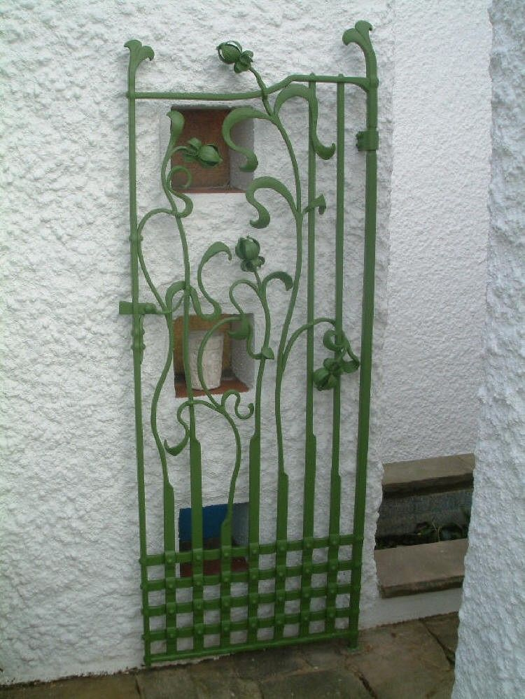 Art Nouveau Inspired Gate East Yorkshire The Forge Art Novueau
