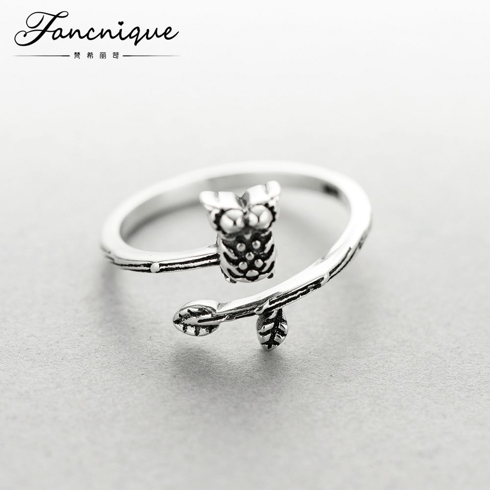 d53dea88b12 Fashion New 925 Solid Sterling Silver Women Owl Design Ring ...