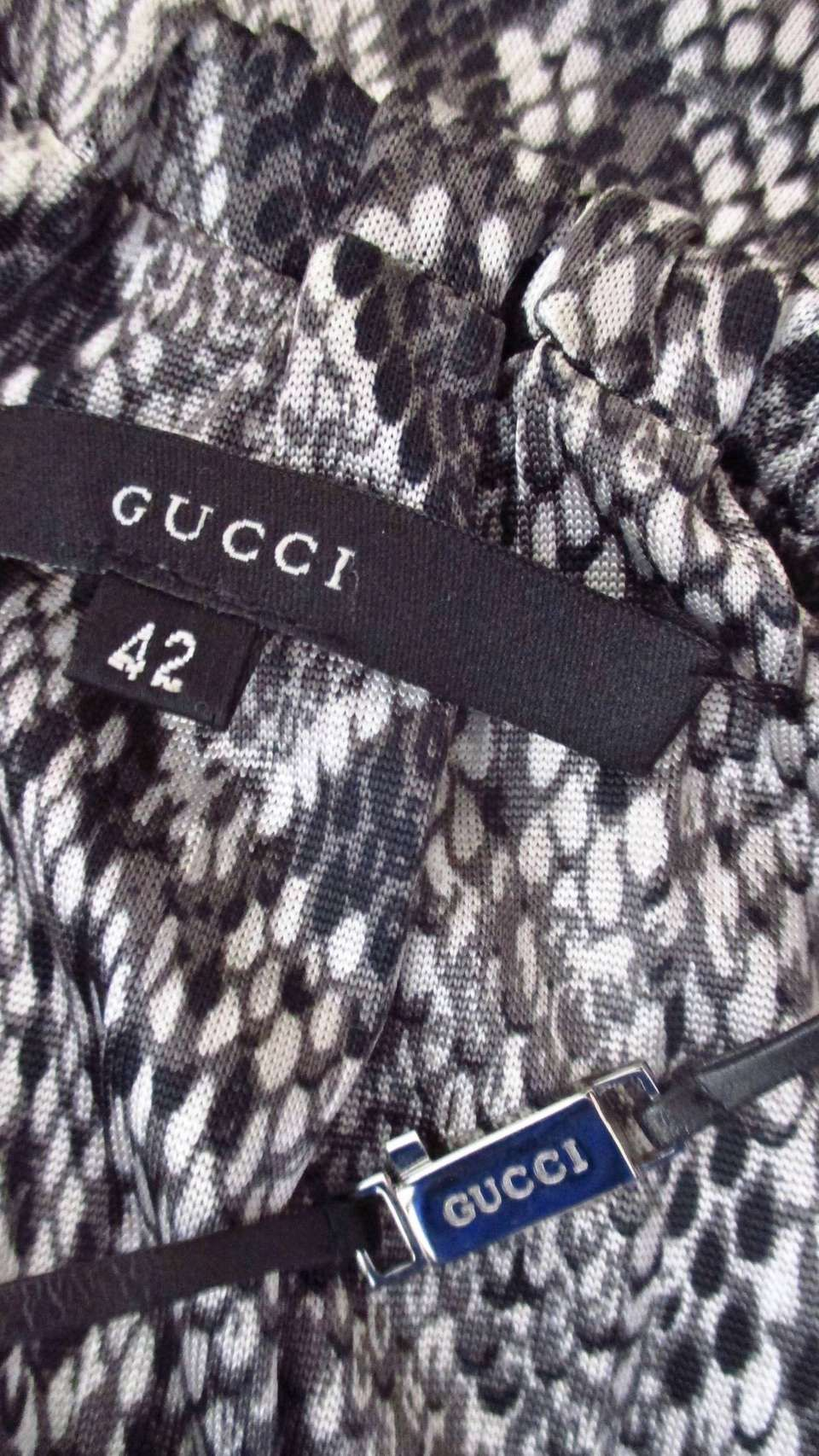f2241424454 For Sale on 1stdibs - A fabulous iconic jersey dress from Tom Ford for Gucci  S S 2000 collection. The python print in shades of grey is the highlight of  the ...