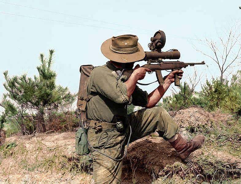 5 1479 Private L J Best Of Sniper Section Brigade Headquarters 3rd Battalion The Royal Australian Regiment 3rar Display Korean War Sniper Anzac Soldiers