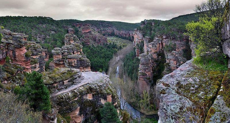 Barranco De La Virgen De La Hoz Parque Natural Alto Tajo Comarca De Molina De Aragón Guadalajara Parques Naturales Pueblos De España Recorrer El Mundo