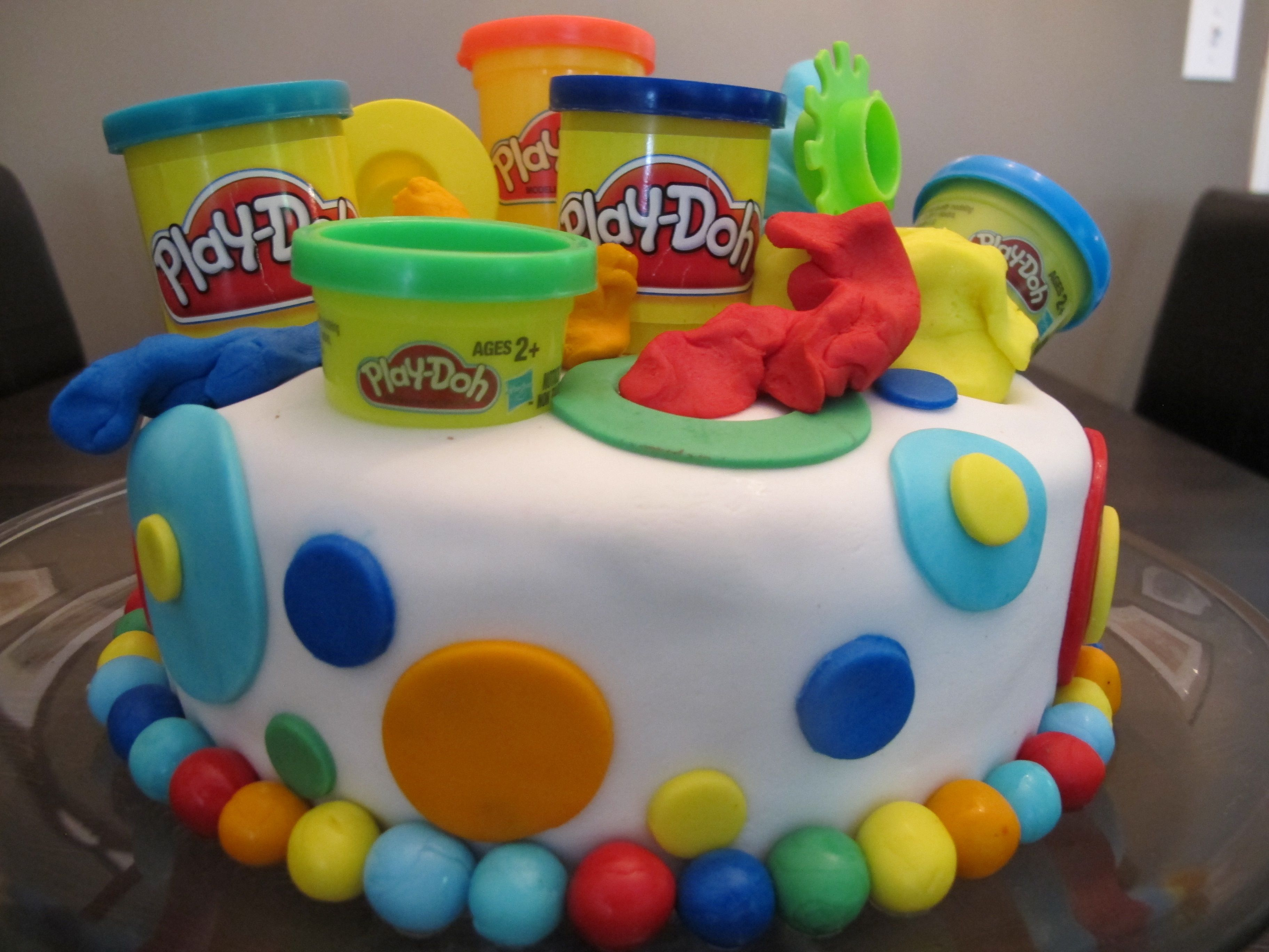 Play doh themed cake for my little 4 year old s party this ...