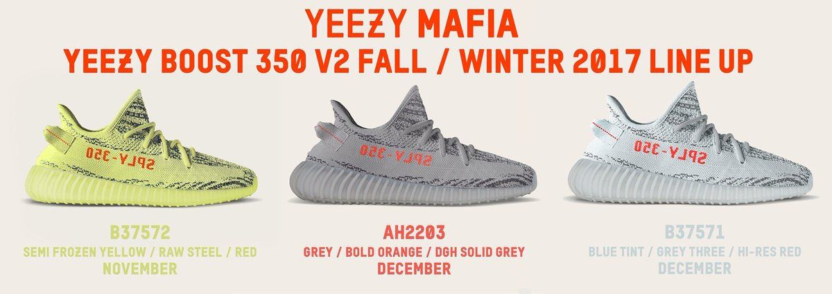Release Updates On All Upcoming adidas Yeezy Boost 350 V2 Colorways