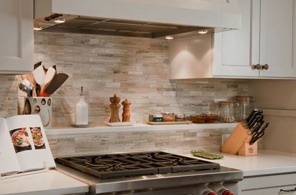 Charmant Küchenspiegel Aus Stein Und Ofen   41 Interessante Küchenspiegel Ideen Für  Die Wohnung
