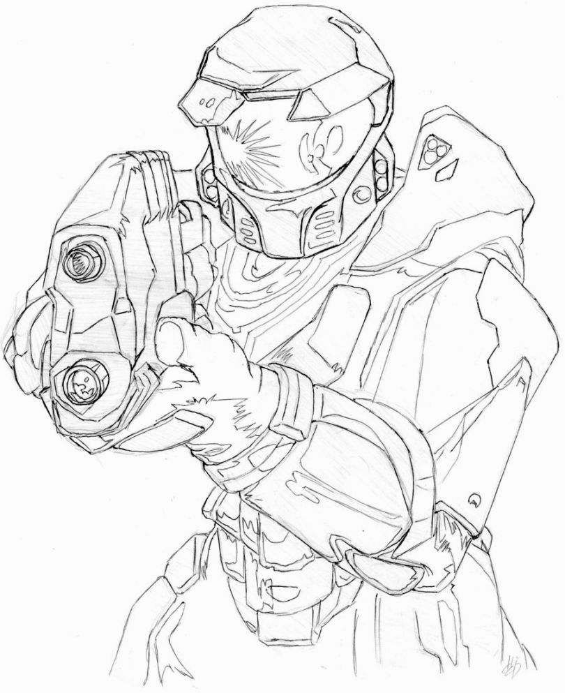 Master Chief Coloring Pages Halo Drawings Coloring Pages Halo