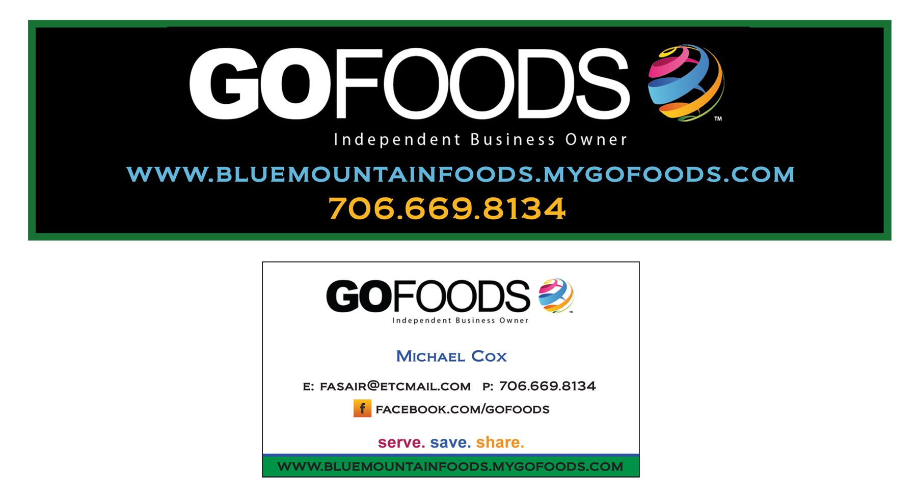 Business Card And Bumper Sticker Layout Design For Gofoods Sales Rep Bumper Stickers Business Card Design Independent Business Owner [ 991 x 1800 Pixel ]