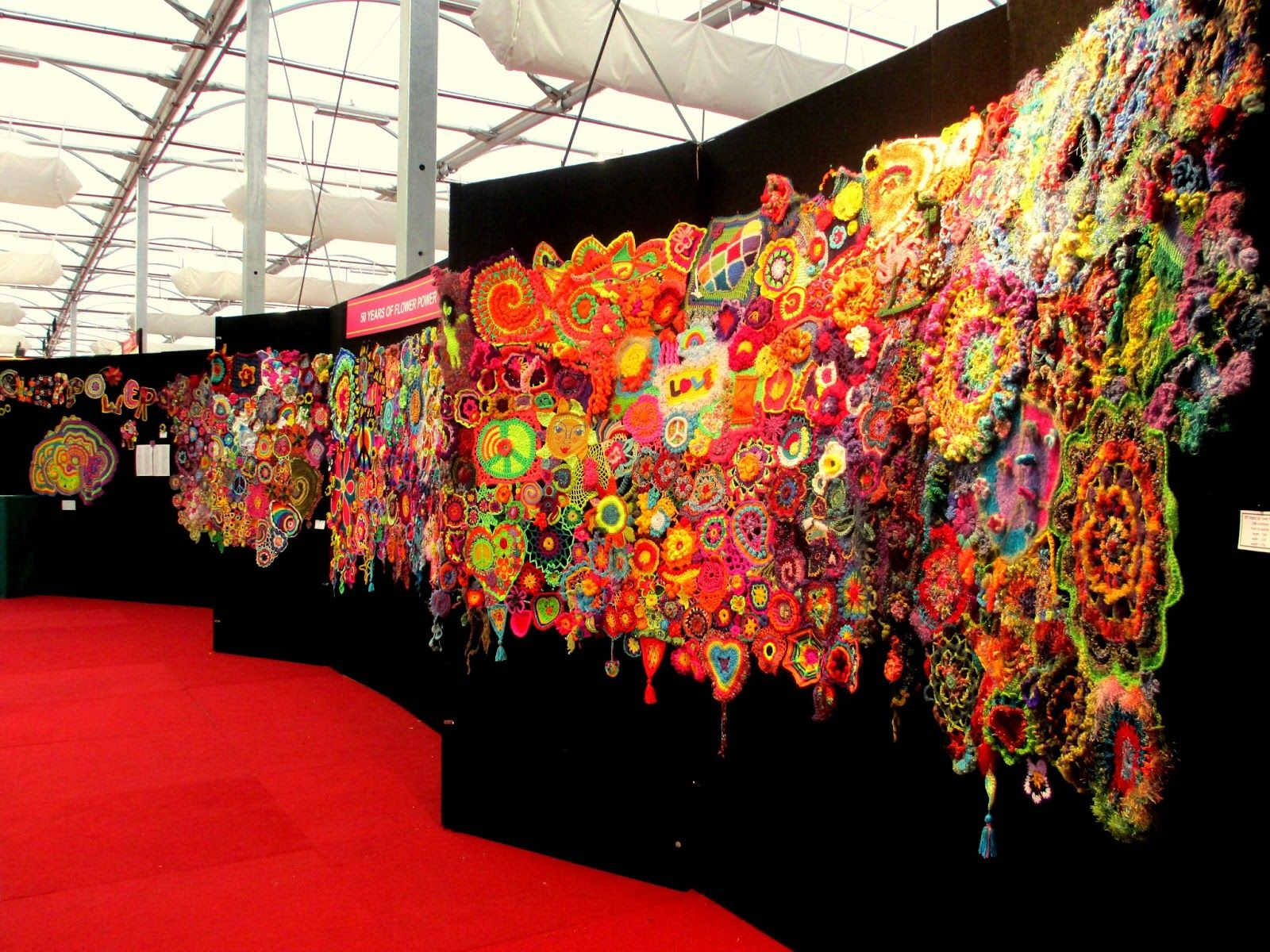 50 years of flower power - a freeform crochet and knit artwork: it\'s ...