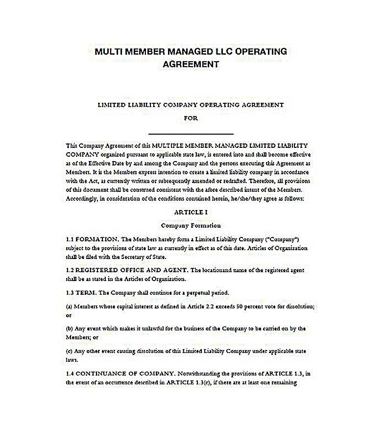 Operating Agreement For Llc 23 Llc Operating Agreement Template Llc Operating Agreement Template Is An Agreement Used To Determine Agreement Templates Llc