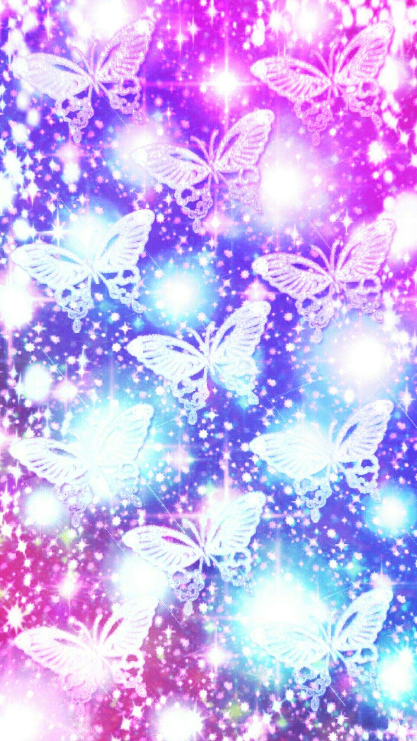 Glittery butterflies (With images) | Butterfly wallpaper ...