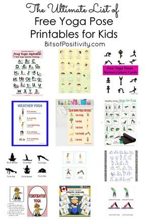 the ultimate list of free yoga pose printables for kids