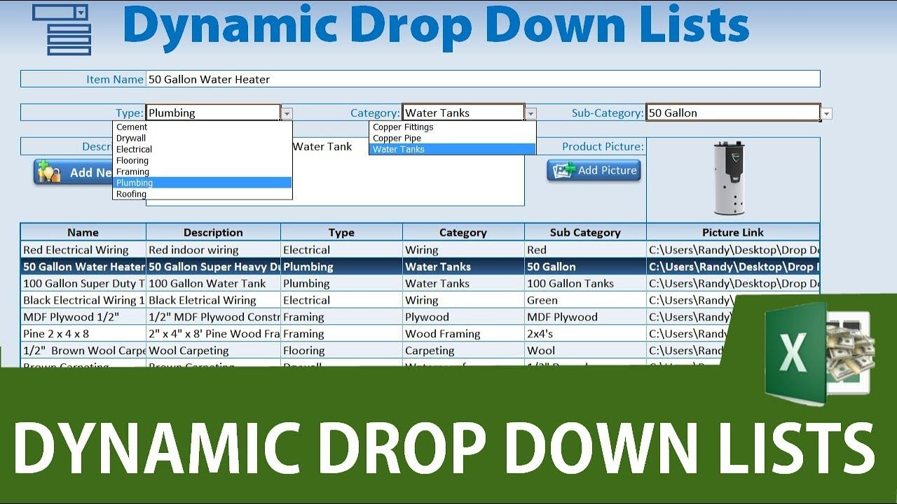 How To Create Dynamic Drop Down Lists In Excel Excel Drop Down List Excel Macros