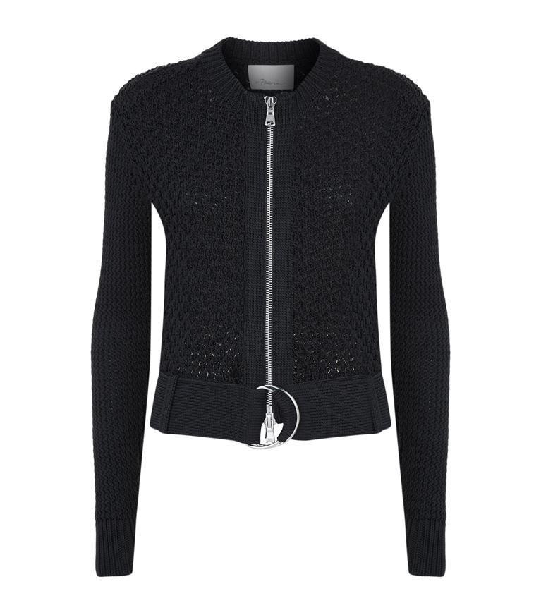 3.1 PHILLIP LIM Belted Crochet Jacket. #3.1philliplim #cloth #