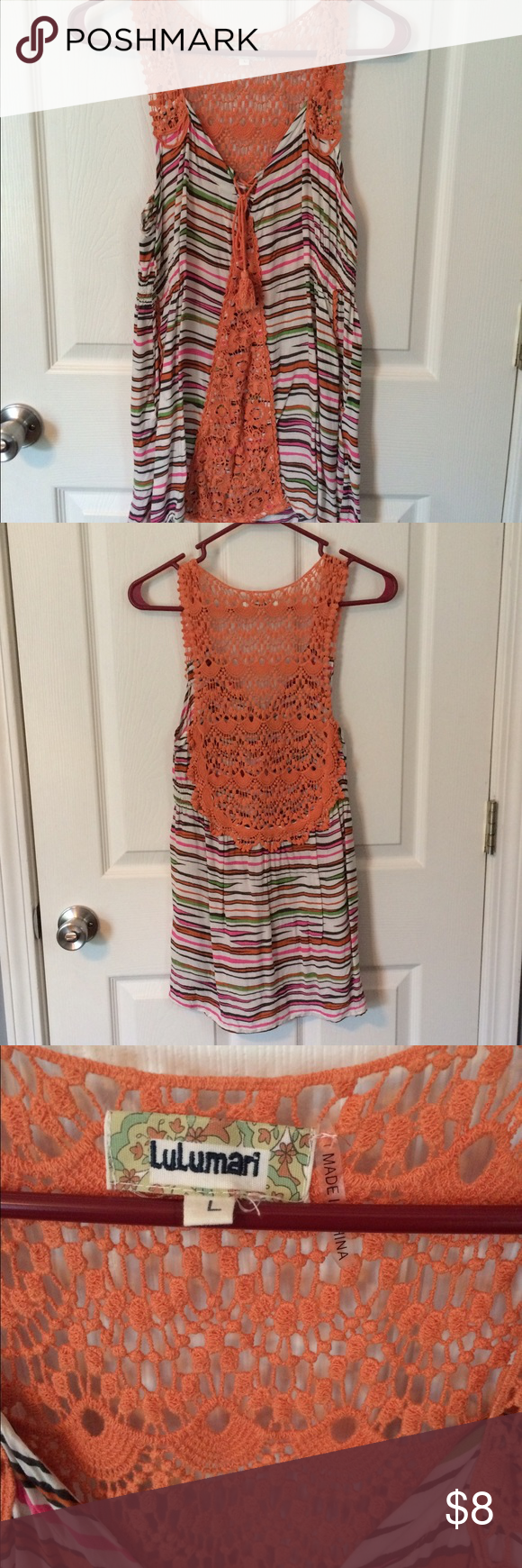Boho Top Has Pockets! Sheer Back Detailing, So Cute for Summertime Altar'd State Tops Tank Tops