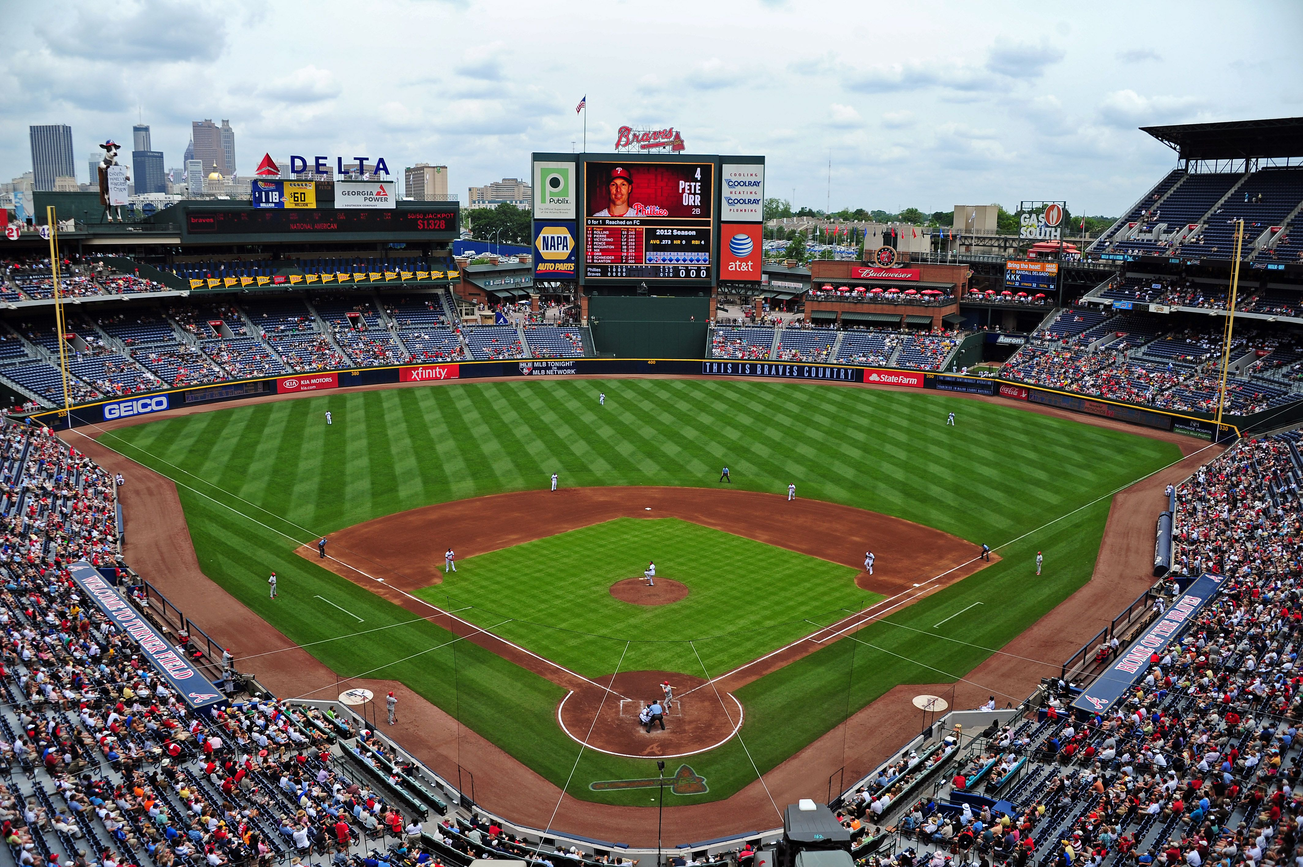 Turner Field Home To The Atlanta Braves Atlanta Braves Game Braves Baseball Atlanta Braves