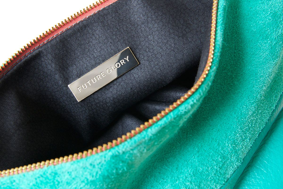 Chloe Foldover Collection / Interior detailing  #clutch #foldover #handbag #purse #emerald #futuregloryco