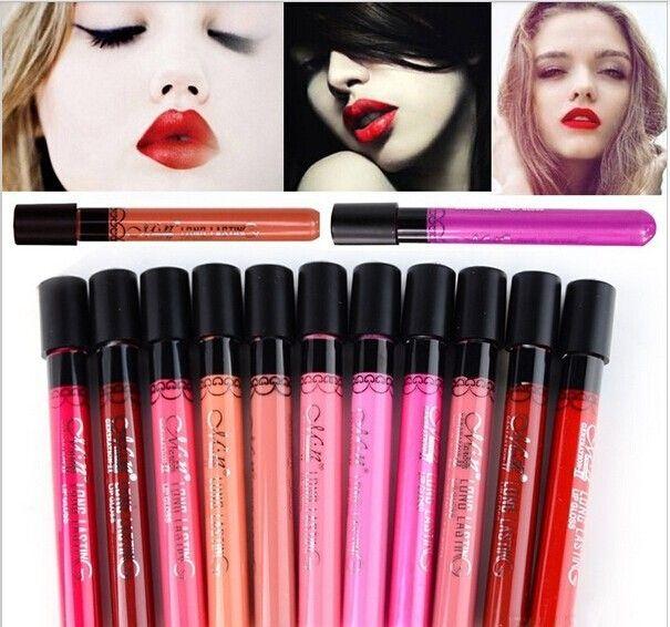 Marca Maquillaje Tinte líquido Menow Lápiz Labial Mate de Terciopelo de alta calidad a prueba de agua duradero brillo de labios sexy labial