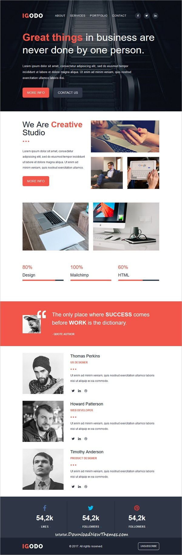 IGODO is clean and modern design responsive multipurpose #email ...