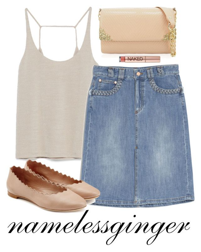 """""""untitled #471"""" by namelessginger ❤ liked on Polyvore featuring Zara, See by Chloé, Chloé and Urban Decay"""