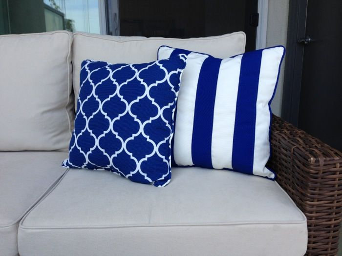 My Outdoor Patio Makeover  . Nautical CushionsPatio ...