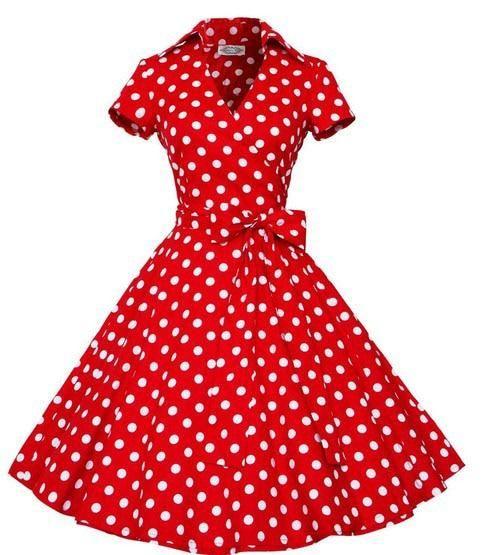 437c8521765e Women Retro Audrey Hepburn Vintage Dress - High Street Whistles