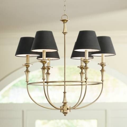 Lufkin 28 Wide Antique Brass 6 Light Chandelier 9h339 Lamps Plus Chandelier Lighting Chandelier Kitchen Lighting Over Table